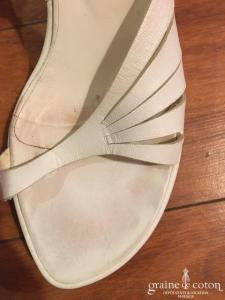 E Skye - Sandales à talon compensé (chaussures) blanches