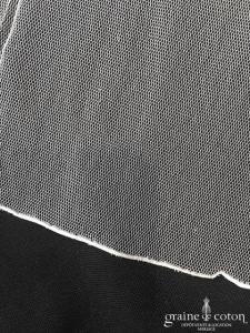 Delphine Manivet - Voile long de 3 mètres en tulle de soie ivoire (sans ou avec rabat)