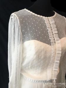 Marie Laporte - Barbara (bohème mousseline de soie guipure taille-haute fluide manches bretelles coeur années 20)