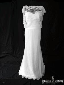 Cymbeline - Ixia / Annabelle (dentelle bretelles manches bustier coeur bohème sirène dos-nu années-20 fluide cache-coeur)