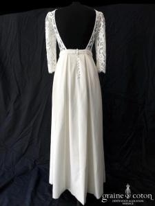 Victoire Vermeulen - Fauvette (bohème fluide dentelle coton manches dos-nu dos boutonné taille-haute crêpe soie poches courte)