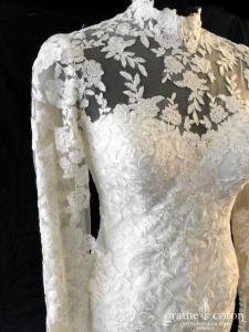 Elegance Sposa - Perla (sirène dentelle manches tulle fluide dos boutonné dos-nu coeur )