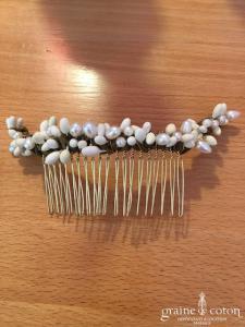 English Garden - Peigne Tania (fleurs perles cheveux)