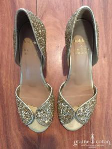 Bobbies x Maison Lemoine - Escarpins Le Trésor (chaussures paillettes dorées)