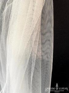 Pronovias - Voile mi-long en soft tulle ivoire fluide (avec rabat)