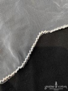 Pronovias - Voile long de 3,5 mètres en tulle souple bordé de perles transparentes (sans rabat)