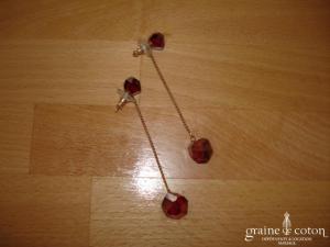 Swarovski - Boucles d'oreille en cristal rouge