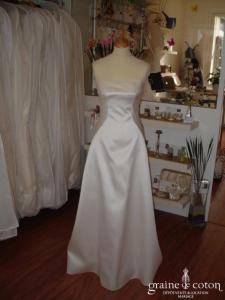 Mariées de Paris - Robe en mikado ivoire