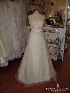 Mariées de Paris - Robe en organza ivoire