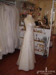 Mariées de Paris - Robe bustier en soie ivoire