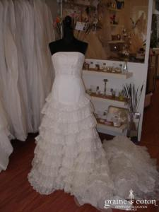 Robe de collection blanche (empire dentelle)