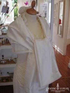 La Sposa - Étole en soie sauvage ivoire