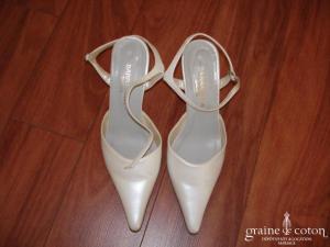 Barracuda Shoes - Escarpins (chaussures) en cuir ivoire nacré