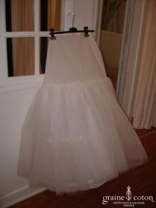 Pronuptia - Jupon blanc à cerceau