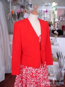 Electre - Veste rouge (non stocké en boutique, essayage sur demande)