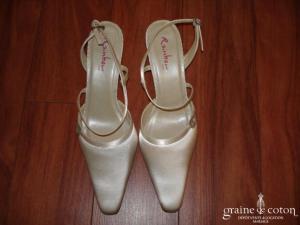 Rainbow - Escarpins (chaussures) en satin et cuir Masy