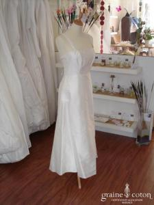 Romance - Robe mi-longue (à courte) en soie sauvage ivoire