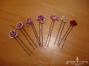 Pic à chignon rose