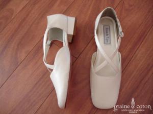 Touch Ups - Escarpins (chaussures) en cuir ivoire