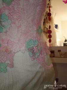 Elsa Gary - Ottoman (fibres naturelles soie sauvage dentelle)