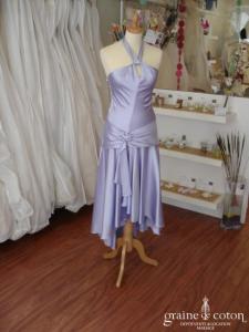 Miss MaMa - Robe de soirée violette (non stocké en boutique, essayage sur demande)