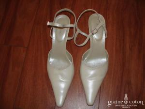 Adige pour Pronuptia - Escarpins (chaussures) en cuir ivoire
