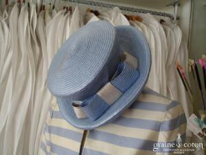 Chapeau bleu & crème