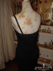 Candice Fraiberger - Robe de soirée longue noire (non stocké en boutique, essayage sur demande)