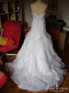 Création sur mesure - Robe bustier blanche (organza dentelle)