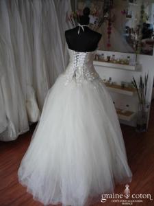 Création Nicolas Fafiotte - Robe de mariée en soie et tulle