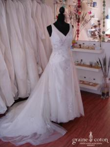 Prélude Mariage - Robe de mariée drapée (organza tulle)