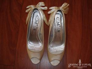 Escarpins (chaussures) en satin ivoire