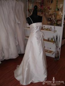 Mariées de Paris - Robe en mikado et organza ivoire