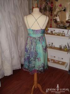 René Derhy - Robe courte fluide en soie colorée (non stocké en boutique, essayage sur demande)
