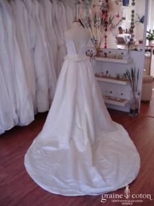 La Sposa (Pronovias) - Robe bustier ivoire (soie)
