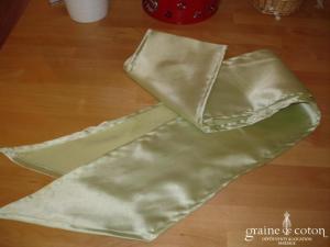 Graine de coton - Ceinture seule en satin vert anis