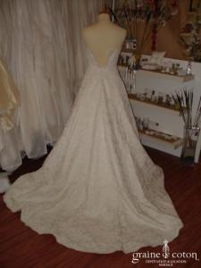 Bolo Vasquez (New York) - Robe bustier ivoire (soie dentelle)