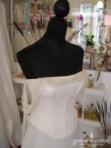 Mariées de Paris - Robe deux pièces ivoire (organza de soie)