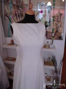 Création - Robe une pièce ivoire (soie sauvage)